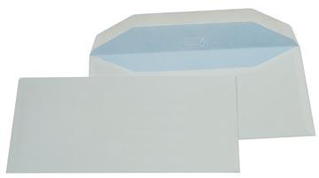 Gallery enveloppen ft 114 x 229 mm, gegomd, binnenzijde blauw, doos van 500 stuks