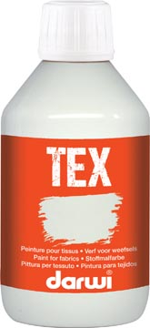 Darwi textielverf Tex, 250 ml, wit