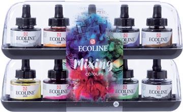 Talens Ecoline waterverf flacon van 30 ml, set van 10 flacons in geassorteerde kleuren