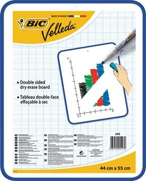 Bic Velleda whiteboard, ft 44 x 55 cm, droog uitwisbaar, dubbelzijdig en onbedrukt aan beide kanten