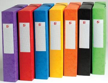 Pergamy elastobox, rug van 6 cm, geassorteerde kleuren