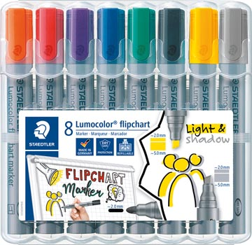 Staedtler merkstift Lumocolor Flipchart 8 stuks