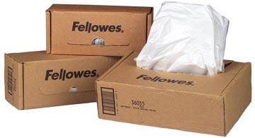 Fellowes opvangzakken van 53-75 liter voor papiervernietigers, pak van 50 zakken