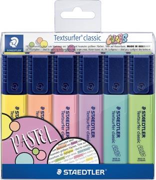 Staedtler Markeerstift Textsurfer Classic, pastel kleuren, etui van 6 stuks