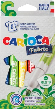 Carcioca textielstift Fabric, doos van 6 stuks in geassorteerde kleuren