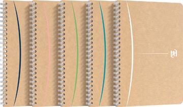 Oxford Touareg spiraalschrift, 180 bladzijden, ft A5, gelijnd, geassorteerde kleuren