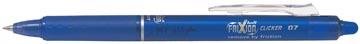 Pilot intrekbare roller FriXion Ball Clicker, medium punt, 0,7 mm, blauw