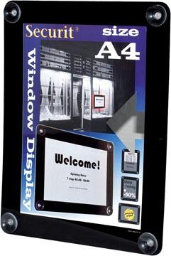 Securit vitrine posterframe A4, zwart