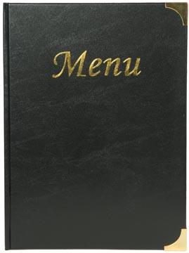 Securit menukaart Basic ft A4, zwart