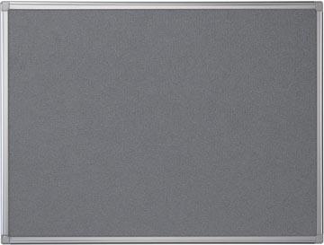 Pergamy textielbord met aluminium frame ft 60 x 90 cm, grijs