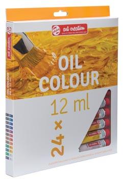 Talens Art Creation olieverf tube van 12 ml, set van 24 tubes in geassorteerde kleuren
