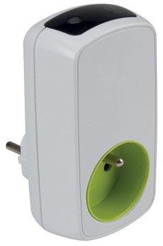 Perel contactdoos met timer, wit, voor Nederland