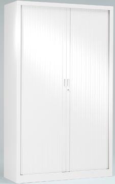 Roldeurkast, hoogte 198 cm, wit