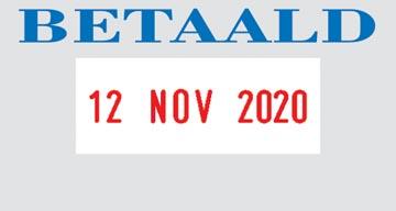 Colop tekststempel met datum Printer tekst: BETAALD