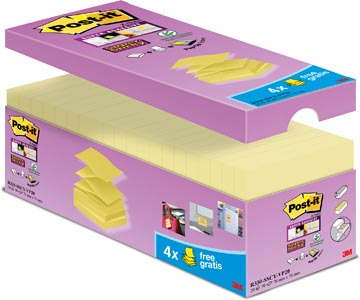 Post-it Z-Notes voordeelpak geel, 16 + 4 GRATIS