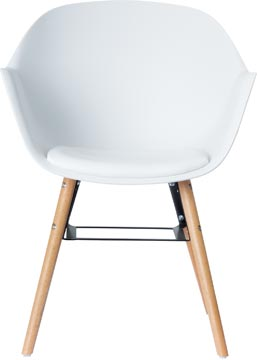 Paperflow set van 2 stoelen Wiseman, wit