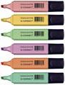 Q-Connect markeerstift pastel, geassorteerde kleuren, pak van 6 stuks